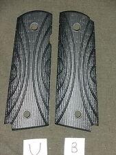 U 1911 Grips Bars Black Dymondwood 1911A1 Colt Kimber Springfield Micarta