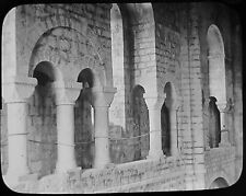 Glass Magic Lantern Slide WINCHESTER CATHEDRAL S TRANCEPT CLERESTORY C1890 PHOTO