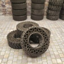 """1/24 Scale 38"""" 3D Printed Resin 4x4 Airless Tires"""