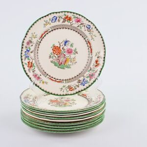 Spode Chinese Rose, 10 X Bread Plates, 7.5 Inches