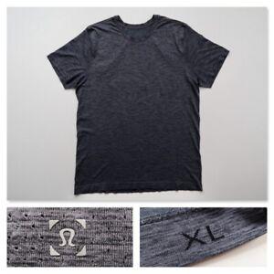 Lululemon Men's Metal Vent Tech Gray Gym Running Short Sleeve Crew Shirt Size XL