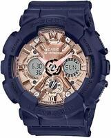 New Casio G-Shock Women's GMAS120MF-2A2 S-Series Ana-Digital Blue/Rose Watch