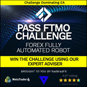Forex Fully Automated Robot (Expert Adviser) Pass FTMO Challenge 100% Guarateed
