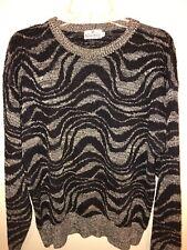 Neiman Marcus Sweater Mens Sz Large Gray Black