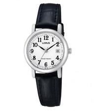 Lorus RH765AX9 Ladies Black Leather Strap Date Watch Auth UK Stockist