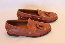 BASS Copper Leather Moccasin Tassel Dress Loafers Mens 7.5 M