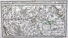 Antique map, Mons oder Bergen in Hennegau