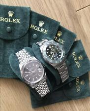 Rolex Travel Pouch Travel Case Luxury Green Velvet With Insert