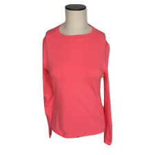 New Womens Size Small Athletic Works Peach Glow Pink Longsleeve Shirt Top