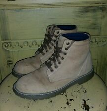 ll bean nubuck leather ladies work boots 8.5 m tan preowned