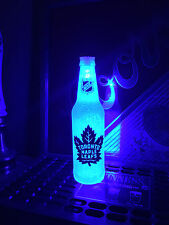 NHL Toronto Maple Leafs Hockey 12 oz Beer Bottle Light LED Bar Man Cave
