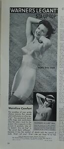 1942 women's Warners sta up top girdle garters A'lure  bra vintage ad