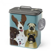 Burgon and Ball The Rabble Dog Treats Storage Tin Container Bin Biscuits Food Bo