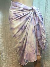bbd3522e18 Rima Purple Tie Dye Sarong Wrap Around Cover Up Beach Swim Wear Fringe