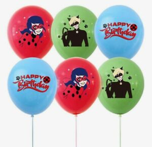 MIRACULOUS LADYBUG 15pcs Latex Party Decoration Balloons.