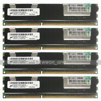 Micron 32GB 4x8GB 2Rx4 PC3-10600R DDR3-1333Mhz 240Pin ECC REG Server Memory RAM