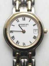 RAYMOND WEIL Ladies Watch. 9947 Gold Tone & Steel Date. New Battery