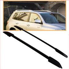 For  08-13 Toyota Highlander Roof Rack Side Rails Bar Black OE Style Pair Set