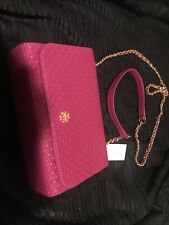 NWT Tory Burch MARION Embossed PINK Light Shoulder Bag Crossbody