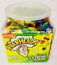 MASSIVE TUB 240 Warheads Extreme Sour Hard Candy American Import Sour Challenge?