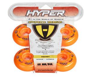 Hyper Outdoor-Rollen für Inlineskates Pro 250, Orange 72500, 84A. 68mm. Freizeit