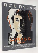 BOB DYLAN Lyrics, 1962-1985 Hardcover
