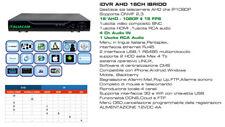 IBRIDO DVR 16 + 16 Canali IP FULL AHD 1080N Registra Real Time