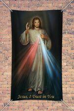 3 x 5' Vinyl Indoor Outdoor Banner Divine Mercy
