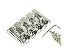 Genuine Hipshot A Style 4 String Bass Bridge Aluminum, Chrome 0.750 spacing