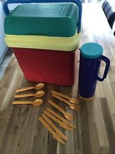 Retro Gio'style Coolbox, Flask And Cutlery