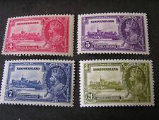 NEWFOUNDLAND, SCOTT # 226-229(4), COMPLETE SET 1935 SILVER JUBILEE ISSUE MVLH