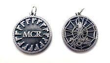 MCR M.C.R. My Chemical Romance Keychain Keyring Key doble sided Pewter Silver