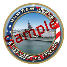 USS NEW JERSEY / US NAVY Wood Plaque-Sign /Man Cave/Train & Kids