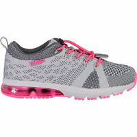 CMP Girl Trainers Sport Shoes Kids Knit Fitness Shoe Grey Breathable