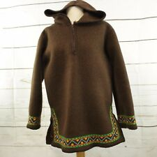 Inuit Eskimo Wool Hooded Pullover Parka Coat Jacket Handcrafted Embroidered