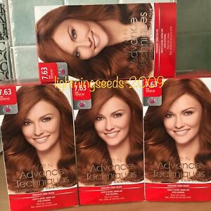 Avon ADVANCE TECHNIQUES Professional Hair Colour DARK CHESTNUT RED 7.63 x4 Lots
