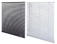 Easy Fit PVC Venetian Blind Window Blind All Sizes Drop 150cm - Black / White