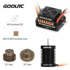 GoolRC 9T 3650 4370KV Brushless Motor 60A  BEC 21T 28T Gear for 1/10 RC A3Y7