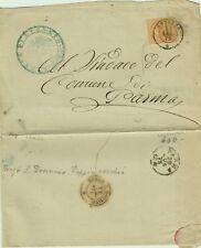 576-EMILIA ROMAGNA,BUSSETO,DOPPIO CERCHIO PER PARMA,RETRO: BORGO S. DONNINO,1875