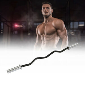 """Fitness Bug Olympic 2"""" EZ Curl Bar Home Gym Fitness Workout Arm Curl Weight"""
