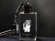 Biewer Yorkshire Terrier, Dog Crystal Keyring, High Quality, Crystal Animals Ca