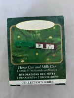 2000 Hallmark Keepsake Lionel Horse and Milk Car Miniature Christmas Ornament