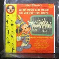 """Jimmie Dodd - Mickey Mouse Club March 7"""" VG+ DBR50 Orange Vinyl 45"""