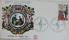 ENVELOPPE PREMIER JOUR - 9 x 16,5 cm - 1970 - JOURNEE DU TIMBRE - N° 711