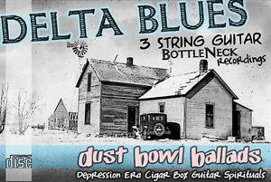 Cigar Box Guitar Blues Music CD ~ Delta Blues & Resonator 3 string slide guitar