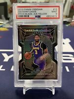 2019 Panini Obsidian #12 Anthony Davis Pitch Black Etch Yellow 7/10 PSA 9 POP 1