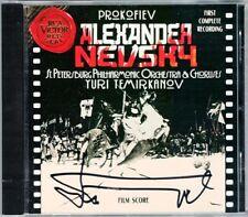 Yuri TEMIRKANOV Signiert PROKOFIEV Alexander Nevsky Film Score GOROHOVSKAYA CD