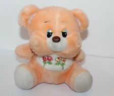 "Flower Bear Plush Toy 9"" Sunny Toys 1980's Bootleg"