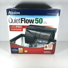 Aqueon QuietFlow 50 LED Pro Aquarium Power Filter for tank up to 50 Gallons