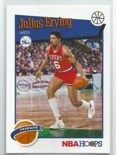 2019-20 NBA Hoops Basketball - Julius Erving - Philadelphia 76ers Base Card #293